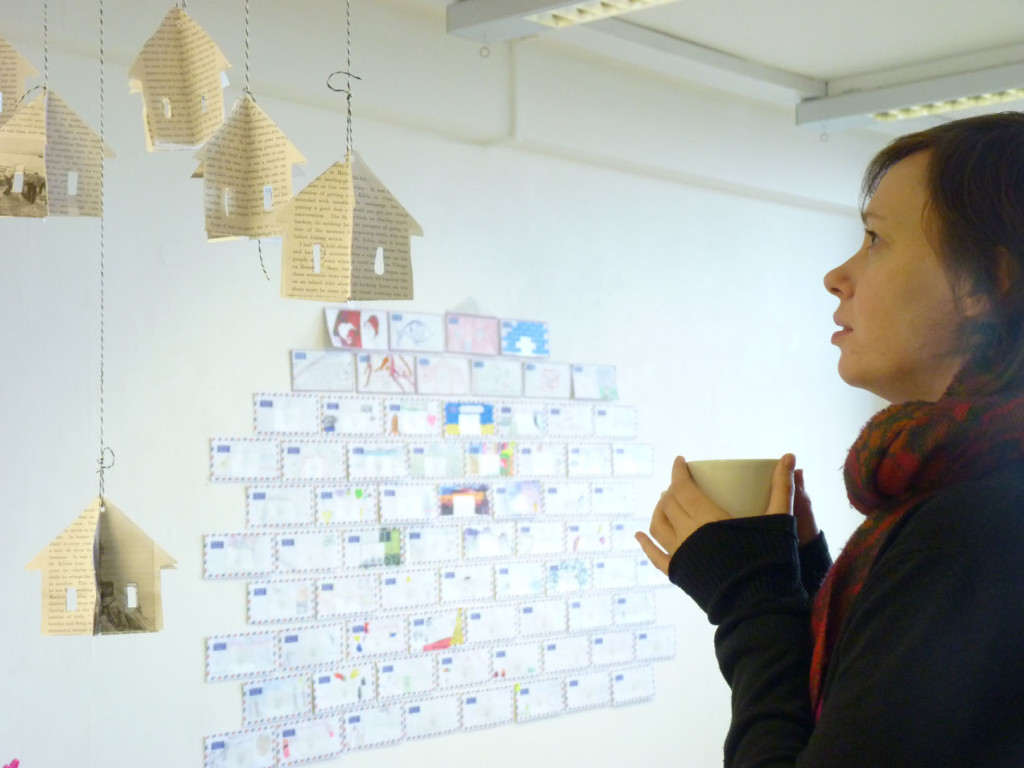 "Abbeyhill Primary School art installation ""Leaving Hirta"""