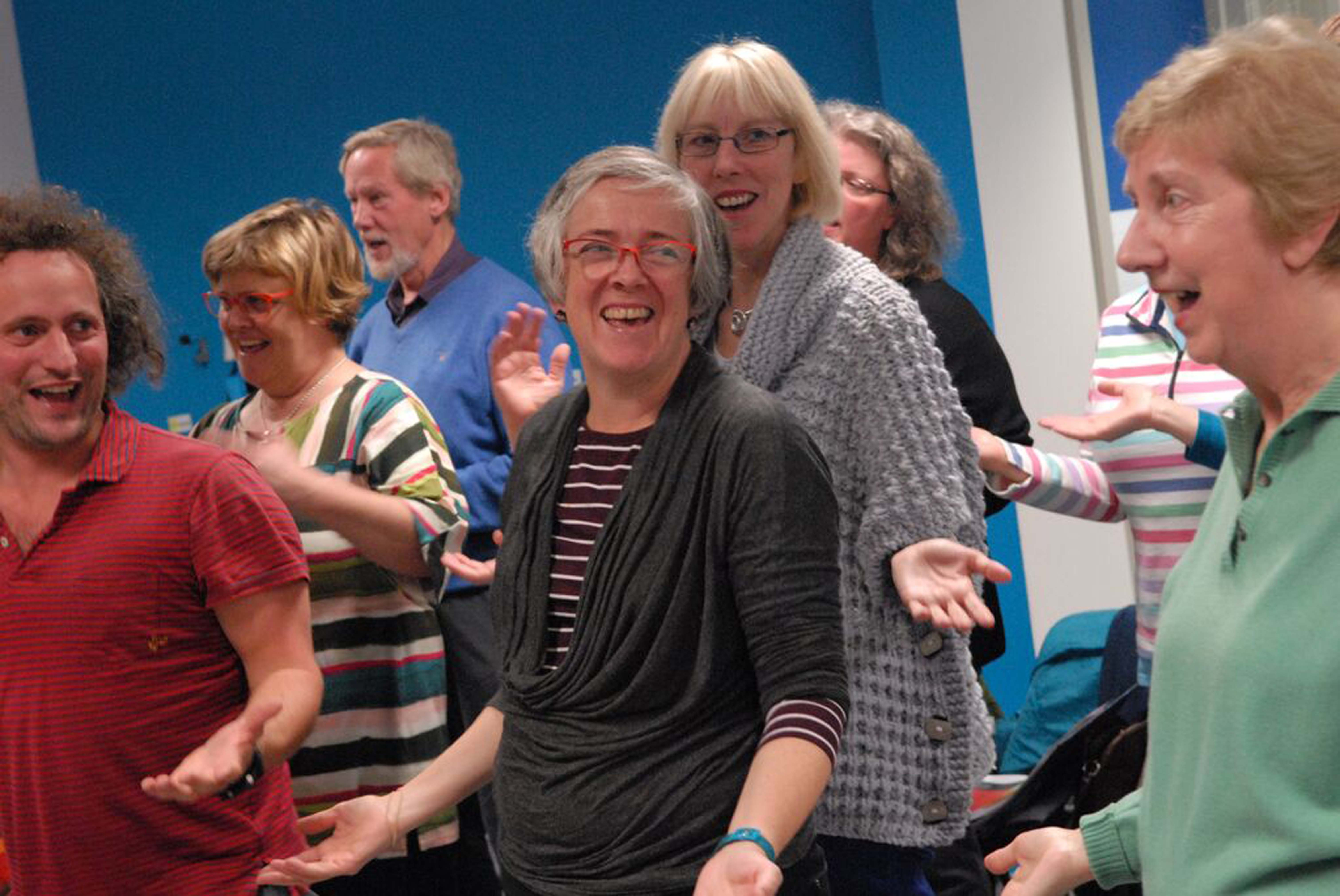 Photo credit Sheila Masson Rehearsing with The Newhaven Community Choir at Victoria Primary School