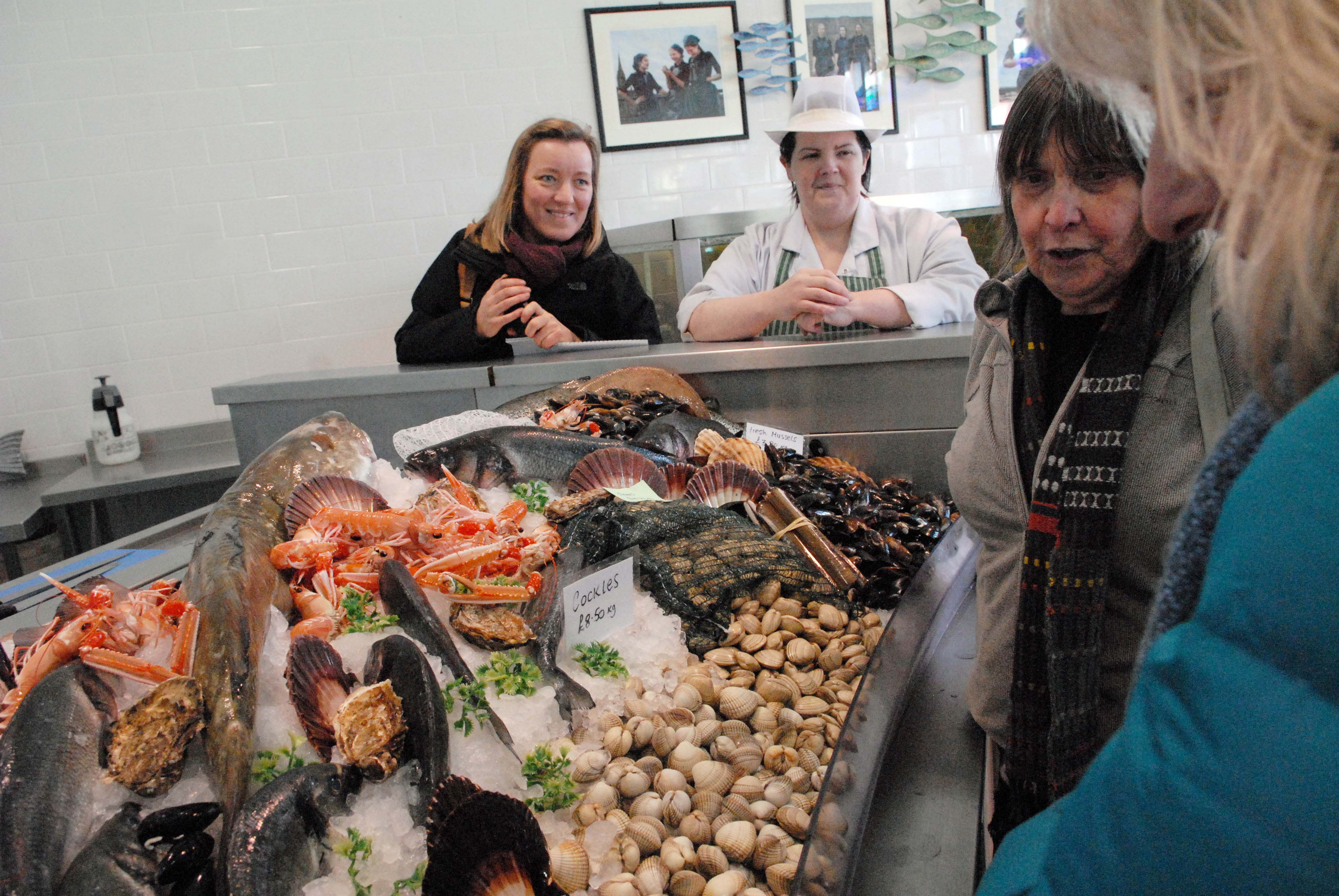 Trustee's got goody bag of kippers thanks to Welch's Fishmongers. Photo credit Sheila Masson