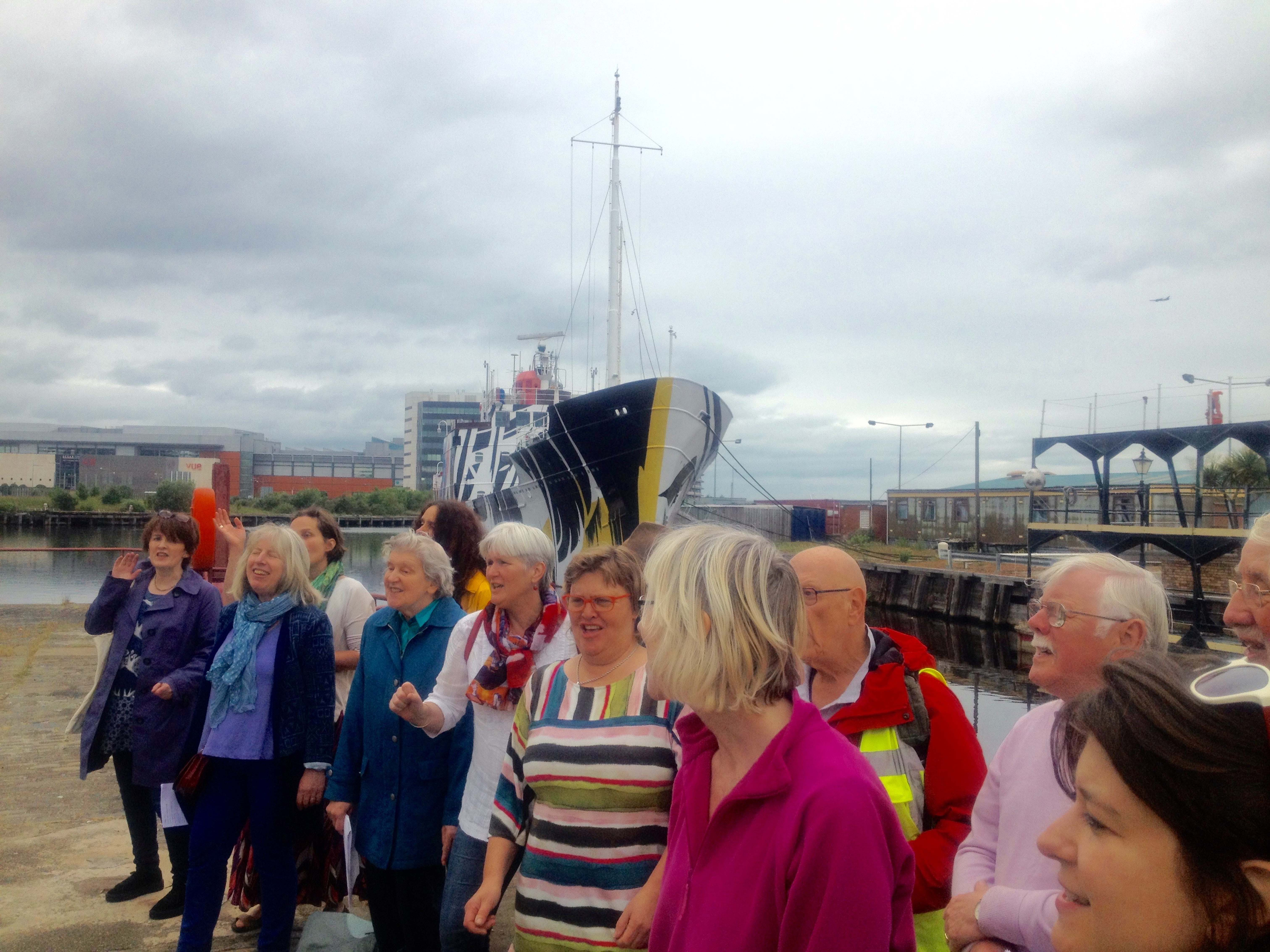 Newhaven Community Choir at Dazzle Ship in Leith