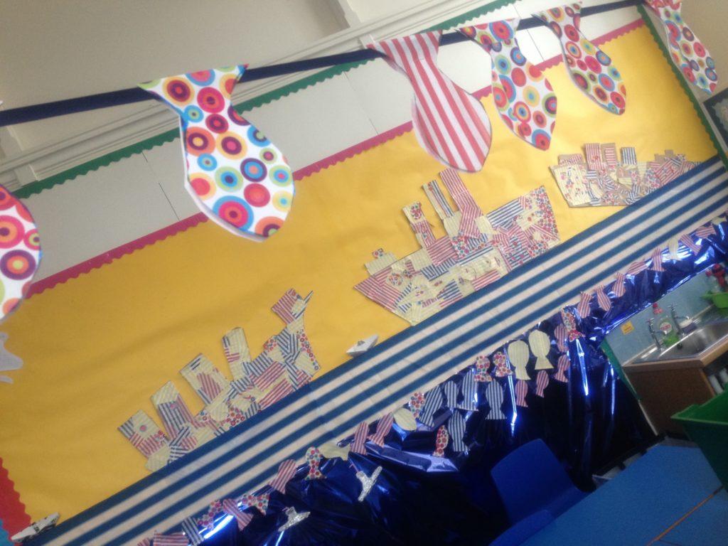 Dazzle ships decorate Newhaven Primary School