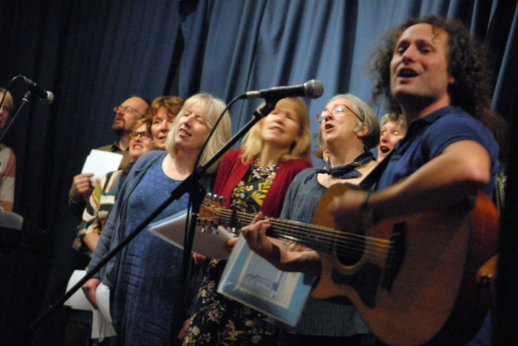 Jed Milroy leads the Newhaven Community Choir
