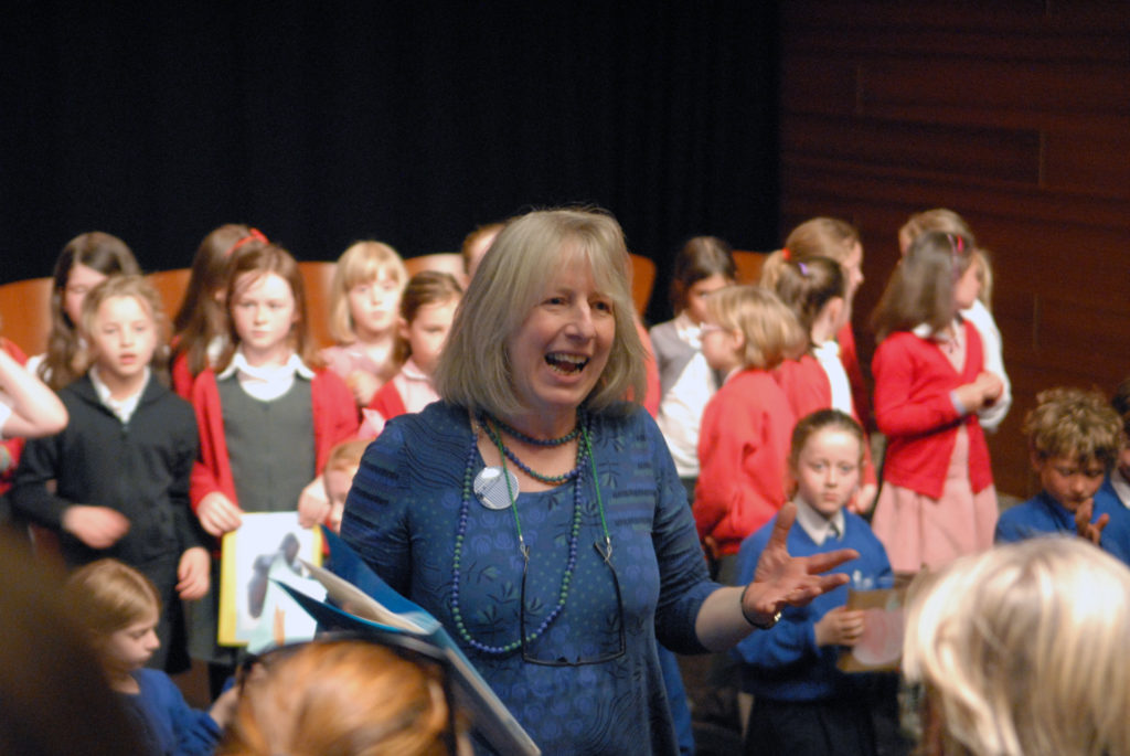 Lucy Metcalfe leads Junior Choirs