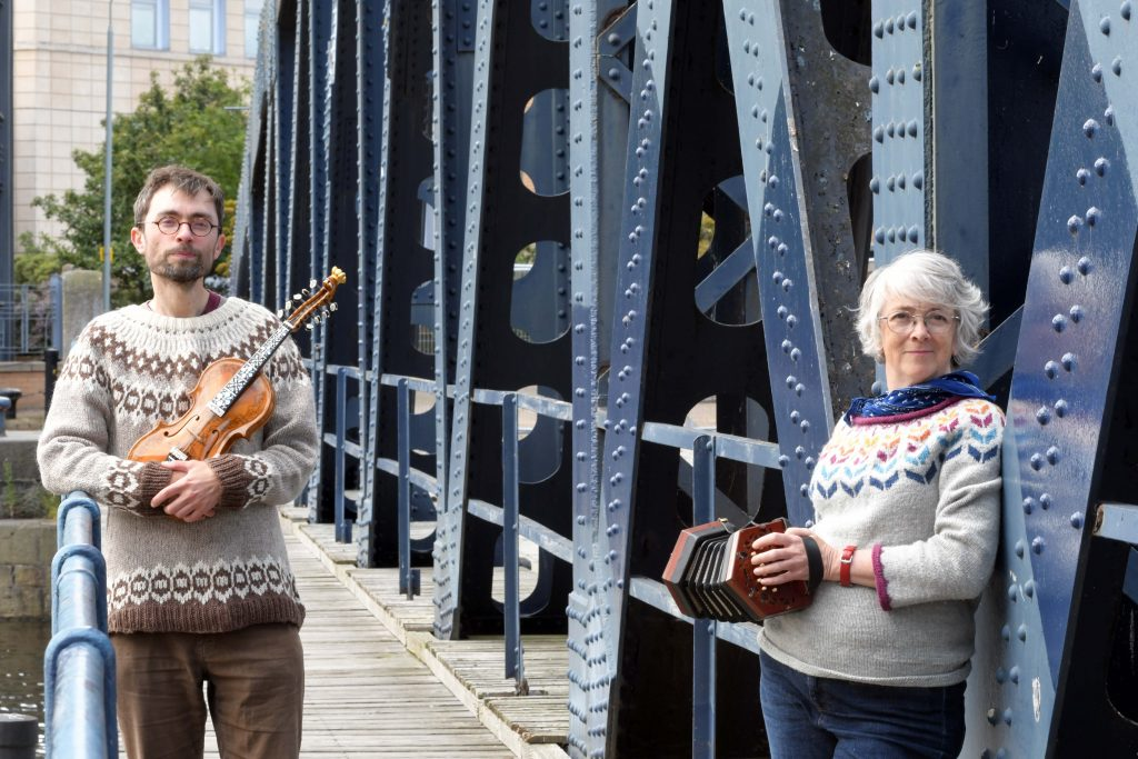 Leith performers waiting to play and share stories of leith